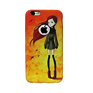 Ultra Thin Plastic Printed Alone Girl back cover for iphone 6 / 6s