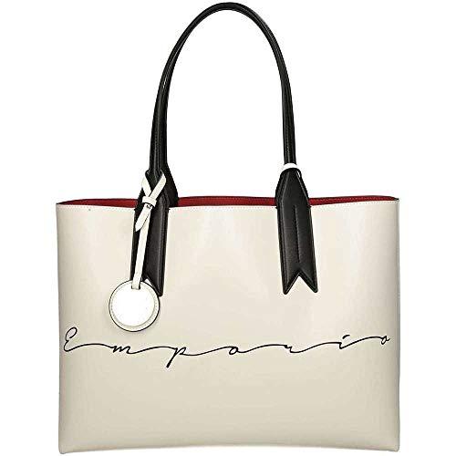 Emporio Armani Logo Shopping Damen Handtasche Weiß