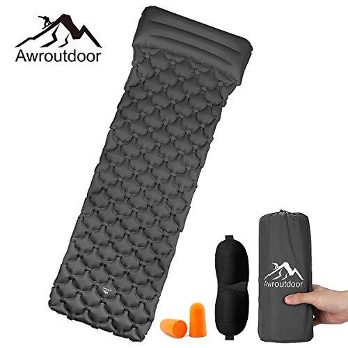 Awroutdoor Esterillas Inflables, Esterilla Camping, Ultraligera Colchon Acampada, Colchones de Aire con...