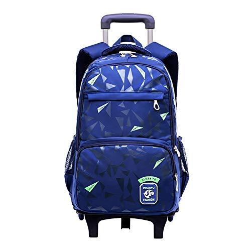 897d6da697 Moberlin Trolley Zaino per Studenti - Casuale Borsa Scuola Handbag con  Ruote per Kids Studenti Bambini