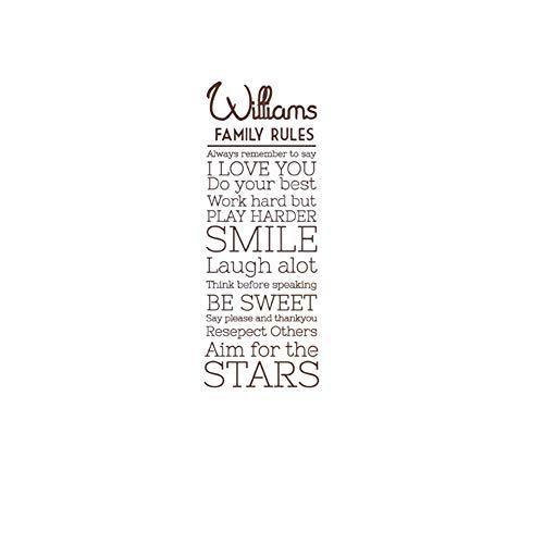 Asien Decoración Paredes Pegatinas Palabras del Arte Dichos Extraíble Letras Sonrisa Palabras Normas De La Casa En Inglés Removible Etiqueta De La Pared para La Oficina Aula Decoración