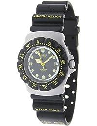 Orient Watch 178742-i Reloj Analogico Para Niño Caja De Acero Inoxidable Esfera Color Negro