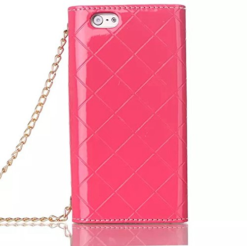 iPhone Case Cover High Qulity Metal Décoration magnétique en cuir PU Housse étui multifonctionnel pour iPhone 6 6s ( Color : Black , Size : IPhone 6 6s ) Pink