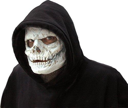 Totenkopf Schädel zum Horror Kostüm Halloween (Latex Skelett)
