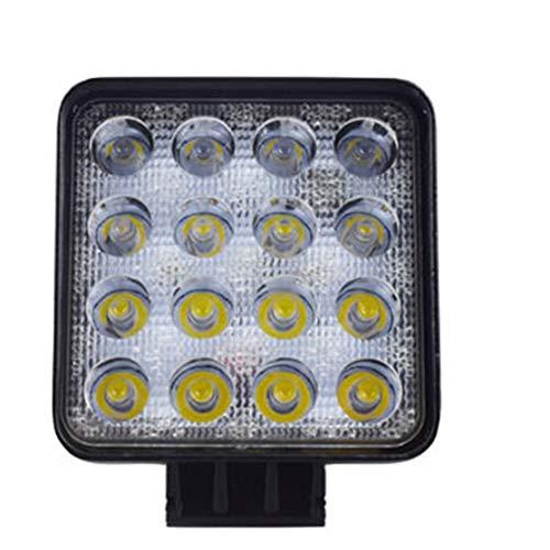 Candybarbar 48W LED DRL Faro da Lavoro Impermeabile a Luce Quadrata Faretto Super Luminoso per Moto Fuorist