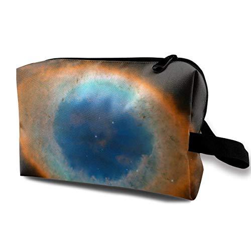 Cosmetic Bag Ring Nebula Waterproof Travel Bag with Zipper, Roomy Cosmetic Bag