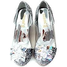 Buena Calidad ELSA & ANNA® Niñas Última Diseño Princesa Reina de Nieve Partido Zapatos Zapatos de Fiesta sandalias SIL15-SH (SIL15-SH, EURO 30-Longitud:20.1cm)