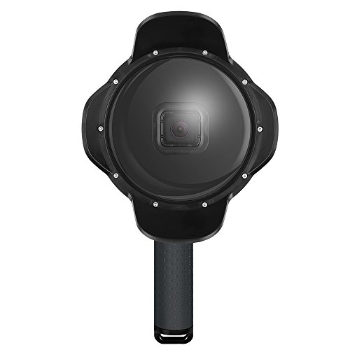 6-Zoll-Tauch-Dome-Port Unterwasser-Objektiv-Haube Dome für GoPro Held 5 Black Action-Kamera mit wasserdichtem Haus Case & Handheld Floaty Grip für Unterwasser-Fotografie