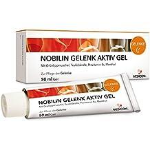 NOBILIN GELENK AKTIV GEL 50 ml mit Teufelskralle & Panthenol - Kühlgel, Gelenksalbe bei Gelenkschmerzen, Knieschmerzen, Muskelkater, Muskelschmerzen