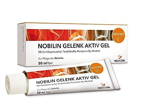 NOBILIN GELENK AKTIV GEL 4x50 ml mit Teufelskralle & Panthenol - Kühlgel, Gelenksalbe bei Gelenkschmerzen, Knieschmerzen, Muskelkater, (Voltaren Salbe)