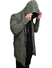 Oversize DESTROYED Designer Sweat Jacke Cardigan Hoody Pullover Shirt Herren Hoodie Longsleeve m NEU Kapuzenpullover long Sweatjacke skater hip hop Sweatshirt Pulli longshirt body dope swag deep neck