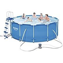 Bestway Steel Pro 56420 Framed pool Alrededor 10250L Azul - Piscina (Framed pool, Alrededor, 10250 L, Azul, 110 cm, 1817 l/h)