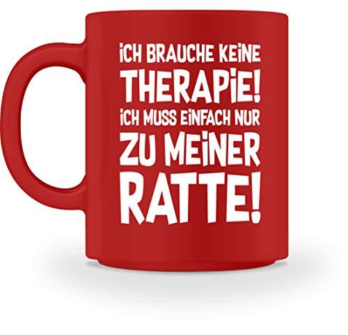 shirt-o-magic Ratte: Therapie? Lieber Ratten - Tasse -M-Rot (Therapie-hängematte)