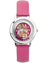 Barbie B593 - Reloj analógico de cuarzo para niña con correa de plástico, color rosa