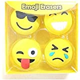 INNOVATIVE Emoji/Smiley Erasers Fancy Eraser Rubber Assorted Style Student Stationery, Birthday Gift/Christmas Gift For Kids (SET OF 16)