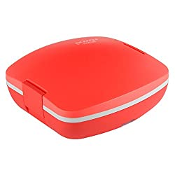 Jaypee plus, Power Meal, Electric Lunch box, 3 compartments, Red