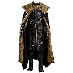 tianxinxishop Disfraz de Cosplay de TV de Halloween para Hombre Disfraz de Rey Knight Medieval Traje Capa de Guerrero Conjunto Completo Version 2, XXXL
