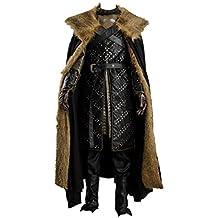 tianxinxishop Disfraz de Cosplay de TV de Halloween para Hombre Disfraz de Rey Knight Medieval Traje Capa de Guerrero Conjunto Completo Dos Versiones