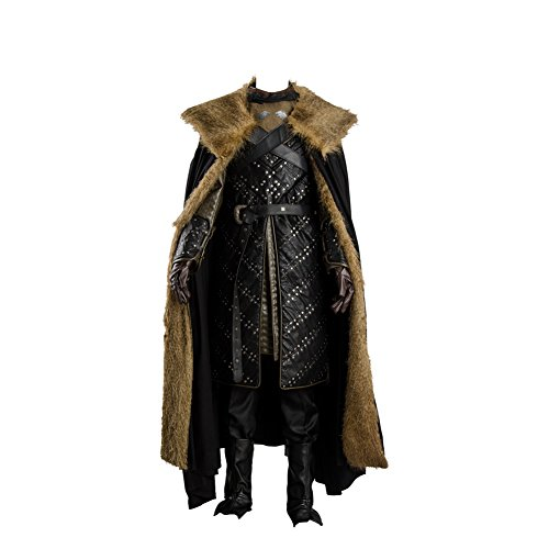 FUMAN GoT 7 Game of Thrones Season 7 Jon Snow Outfit Cosplay Kostüm Herren Schwarz M