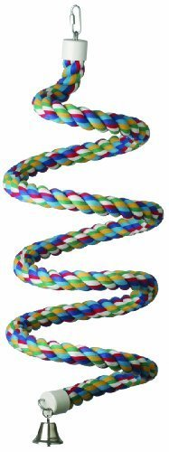 Super Bird Creations 1-1/4-Inch by 97-Inch Rope Bungee Bird Toy, X-Large by Super Bird Creations -