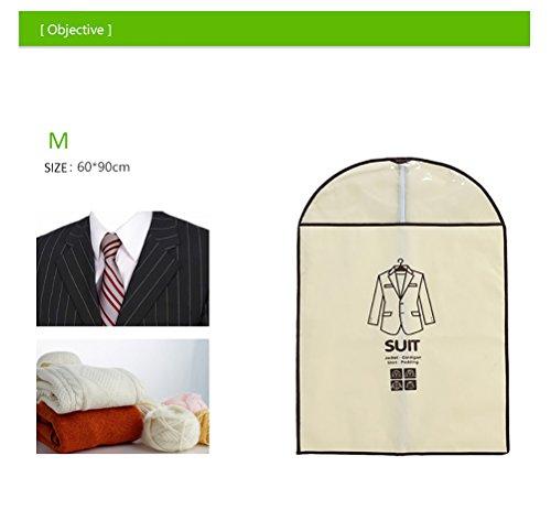 5pz Set home Dress indumento Suit copertura antipolvere di immagazzinaggio Protector vestiti copertura antipolvere con 2dimensioni Pink Blue