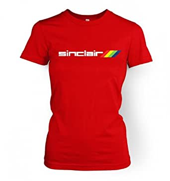 Sinclair Logo women's fitted t-shirt (Small (approx size 10)/Red)