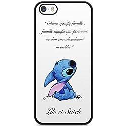 Coque Iphone 6 Plus / 6s Plus Lilo Stitch Tortue love Ohana citation Disney case swag REF11882