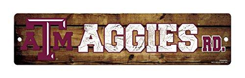 Rico NCAA High-Res Straßenschild aus Kunststoff, braun, 4