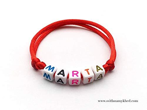 Pulsera MARTA con nombre, nombre, mensaje...