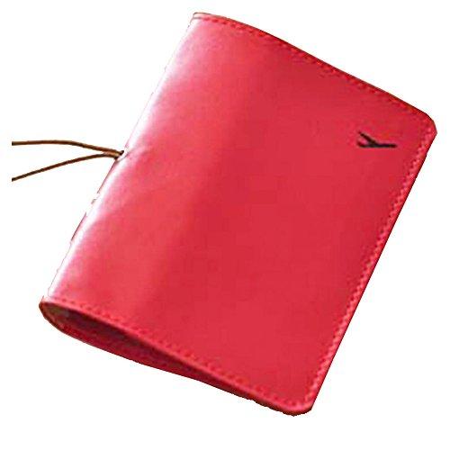 Pelle Titolare del passaporto di corsa, Portafoglio copertura della protezione della cassa della carta (Rosa)