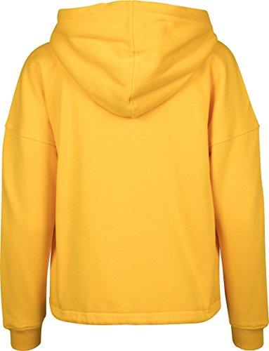 Urban Classics Ladies Kimono Zip Hoody, Sweat-Shirt à Capuche Femme Gelb (Chrome Yellow 1148)