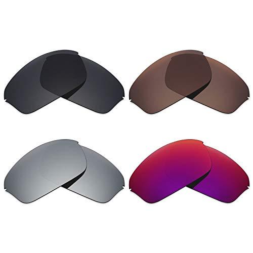Mryok polarisierte Ersatzgläser für Oakley Half Wire 2.0 Sonnenbrille - Stealth Black/Bronze Brown/Silver Titanium/Midnight Sun