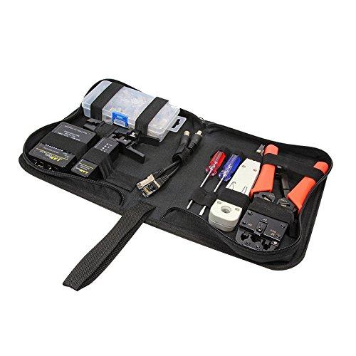 LogiLink Professional WZ0030 Netzwerk-Werkzeug-Set, Schwarz