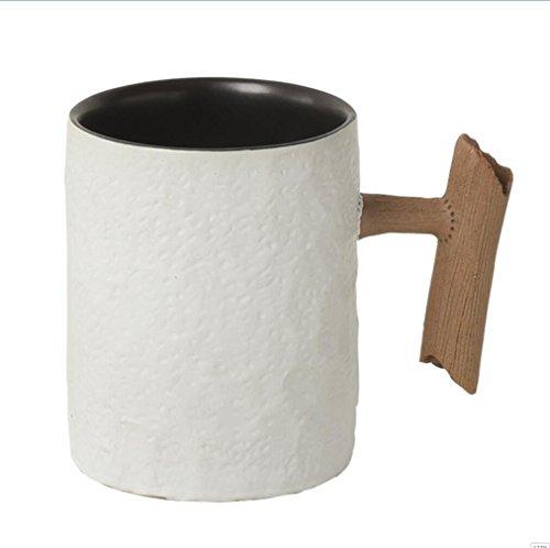 Personalisierte Wasser Schüssel Keramik Tassen große Kapazität Becher Milch Tasse Kaffee Becher 480 ml, minimalistisch weiße (Schüssel Milch Weiße)