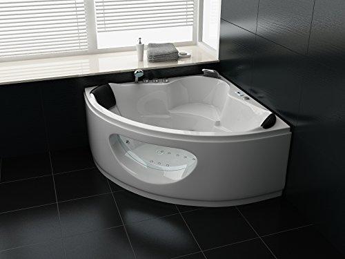 Luxus Whirlpool Badewanne 138×138 in Vollausstattung (Massage) – Sonderaktion