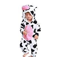 goodjinHH Baby Clothes Set Newborn Baby Girl Boy Cartoon Animal Hooded Flannel Romper Jumpsuit Warm Clothes Clothing Sets Pyjamas