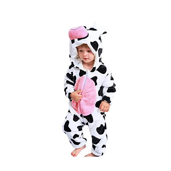 Pijama para Bebé Niña Niño Franela Bolsa Saco de Dormir de Mangas Largas Espesar Mameluco con Capucha Peleles algodón… 1