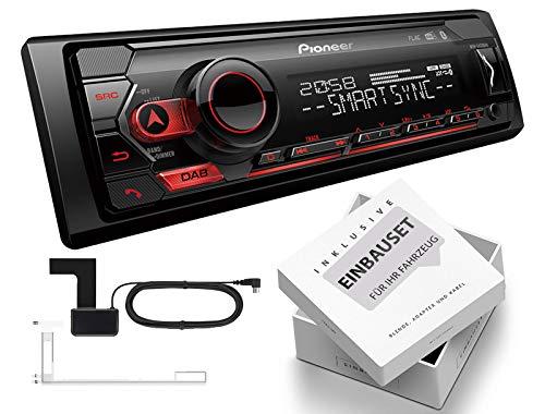 Pioneer MVH-S420DAB 1-DIN Autoradio inkl DAB-Antenne mit Bluetooth USB passend für Mercedes B-Klasse W245 2005-2011 schwarz Audio 10