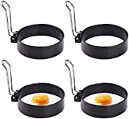 Egg Ring,Round Professional Pancake Mold,Egg Cooker Rings for Cooking, Stainless Steel Non Stick Round Egg Rin