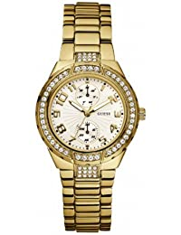 Guess Damen-Armbanduhr Analog Quarz Edelstahl W15065L1