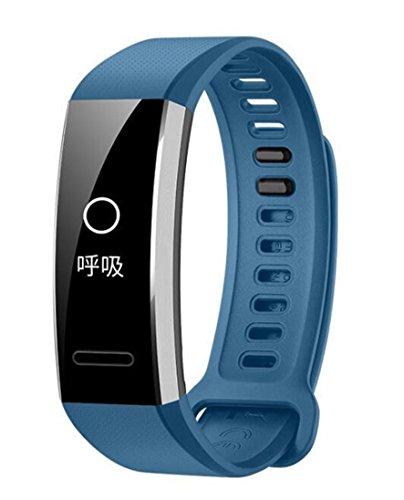 QHJ Silikon Ersatz Band Handschlaufe für Huawei Band 2 / Band 2 Pro Smart Watch (Blau)