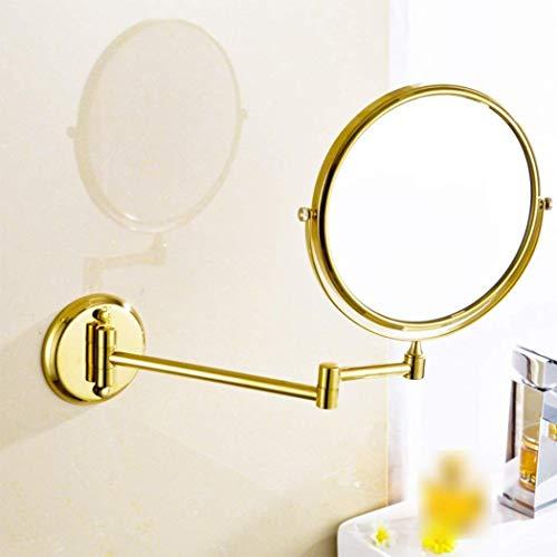 XP Badezimmer-Eitelkeits-Spiegel-Falten-Teleskopbadezimmer-Spiegel an der Wand befestigt...