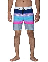 Hurley M Phantom Overspray 18' Maillots de Bain Homme, Gym Blue, FR : L (Taille Fabricant : 36)