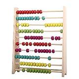 Backbayia 2 Stück Holz Abakus Ständer Kinder Pädagogisches Spielzeug mit Glänzenden Perlen