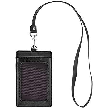 Cmxsevenday A Le Cuir PorteBadges ID Carte Badge Style - Porte badge cuir