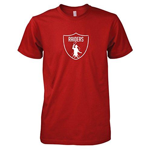 Rot Raider Kostüm - TEXLAB - Indy Raiders - Herren T-Shirt, Größe XXL, rot