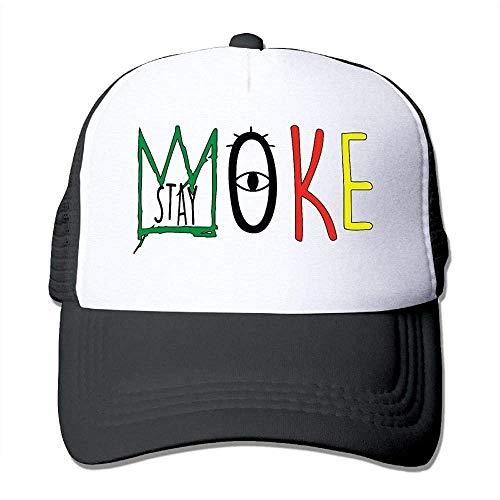 Hoswee Unisex Kappe/Baseballkappe, Stay Woke Men&Women Mesh Back Core Baseball Cap Snapback Hat -