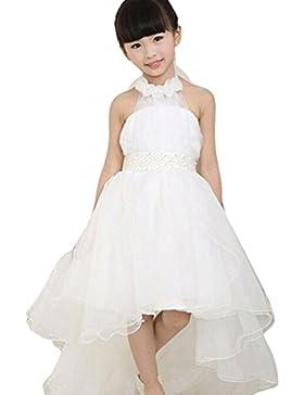 Vestidos para niñas, Dragon868 Niño boda Dama de honor tutú de flores vestidos