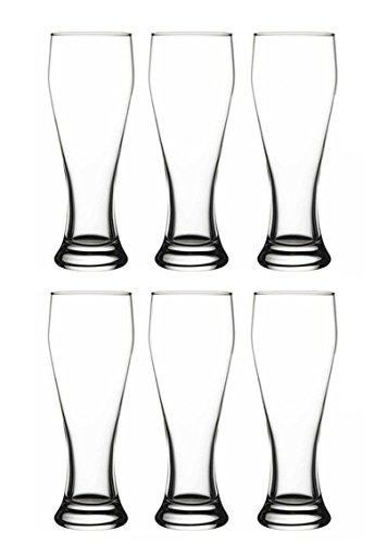 Pasabahce 42756 - 0,5 Liter Weizenbier Gläser, ideal für Biergarten, Vorkühlen im Kühlschrank, Profi-Qualität, 6 Stück