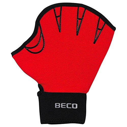Aqua Fitness-Handschuhe, offen Paar, M, Rot